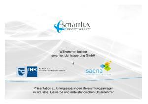 Willkommen bei der smartlux Lichtsteuerung GmbH