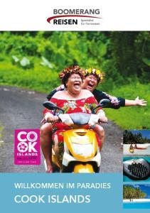 Willkommen im Paradies. Cook Islands