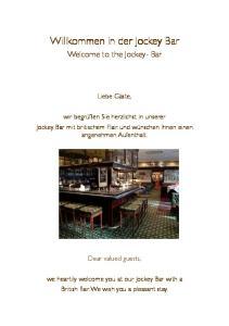 Willkommen in der Jockey Bar