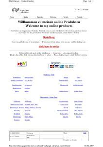 Willkommen zu meinen online Produkten Welcome to my online products