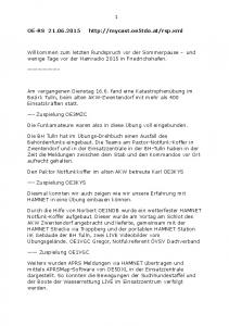 Willkommen zum letzten Rundspruch vor der Sommerpause - und wenige Tage vor der Hamradio 2015 in Friedrichshafen