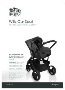 Willz Car Seat For the Willz Travel System