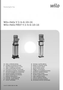 Wilo-Helix V Wilo-Helix FIRST V
