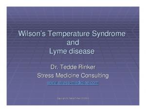 Wilson s Temperature Syndrome and Lyme disease