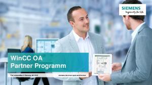 WinCC OA Partner Programm