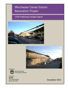 Winchester Center Station Renovation Project