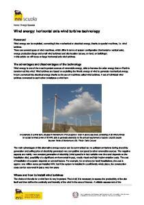 Wind energy: horizontal axis wind turbine technology
