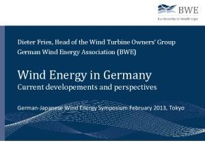 Wind Energy in Germany