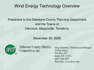 Wind Energy Technology Overview