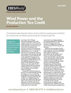 Wind Power and the Production Tax Credit