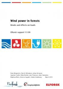 Wind power in forests