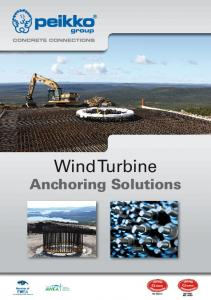 Wind Turbine Anchoring Solutions