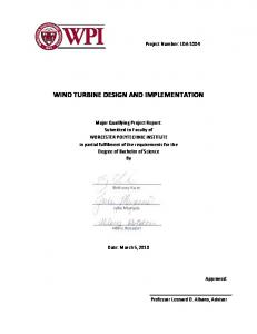 WIND TURBINE DESIGN AND IMPLEMENTATION