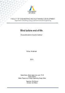 Wind turbine end-of-life: