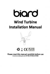 Wind Turbine Installation Manual