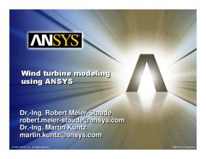 Wind turbine modeling using ANSYS