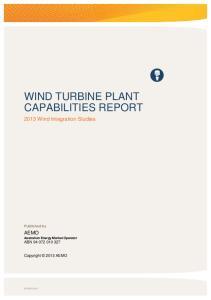 WIND TURBINE PLANT CAPABILITIES REPORT
