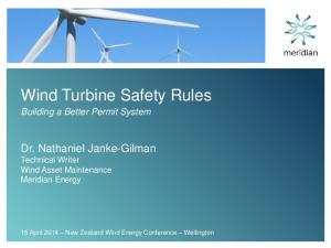 Wind Turbine Safety Rules