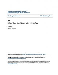 Wind Turbine Tower Wake Interface