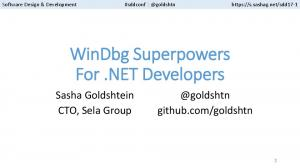 WinDbg Superpowers For.NET Developers