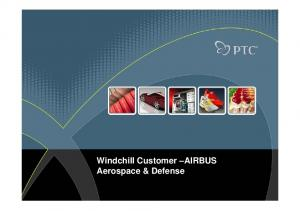 Windchill Customer AIRBUS Aerospace & Defense
