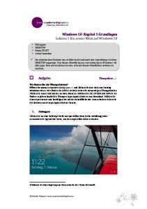 Windows 10 Kapitel 1 Grundlagen Lektion 1 Ein erster Blick auf Windows 10