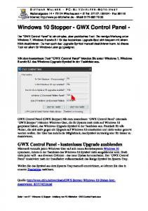 Windows 10 Stopper - GWX Control Panel -
