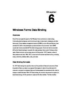 Windows Forms Data Binding