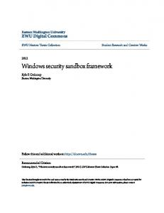 Windows security sandbox framework