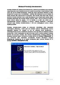 Windows XP instalacja nienadzorowana