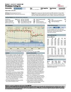 Windstream Holdings Inc