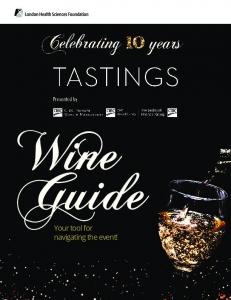 Wine Guide. Your tool for navigating the event!