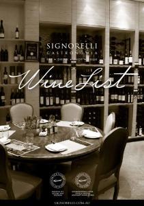 Wine List. signorelli.com.au
