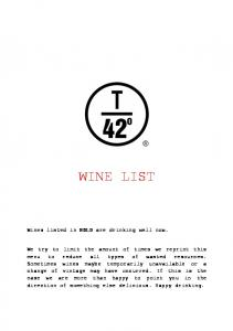 WINE LIST. Wines listed in BOLD are drinking well now