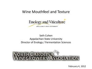 Wine Mouthfeel and Texture