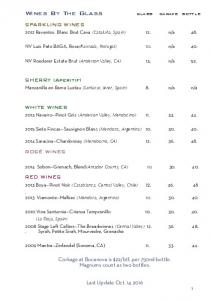Wines By The Glass SPARKLING WINES. SHERRY (Aperitif) WHITE WINES ROSÉ WINES RED WINES