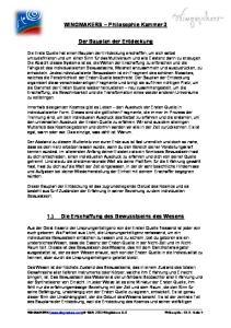 WINGMAKERS Philosophie Kammer 3. Der Bauplan der Entdeckung