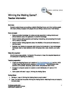 Winning the Waiting Game?