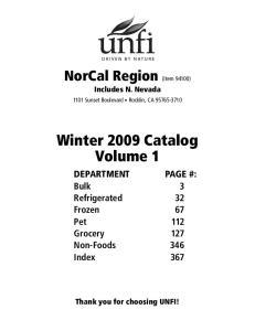 Winter 2009 Catalog Volume 1