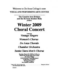 Winter 2009 Choral Concert