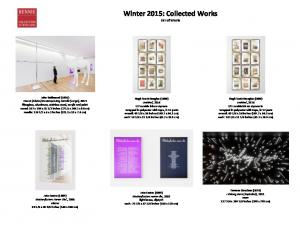 Winter 2015: Collected Works List of Works