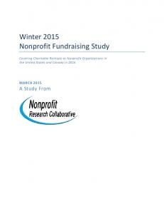 Winter 2015 Nonprofit Fundraising Study