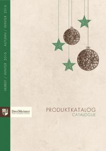 WINTER 2016 PRODUKTKATALOG CATALOGUE