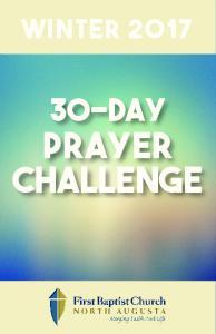 Winter Day. Prayer Challenge