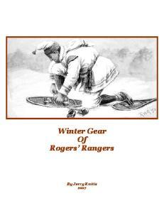 Winter Gear Of Rogers Rangers