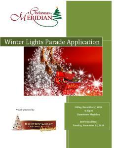 Winter Lights Parade Application