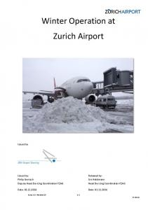 Winter Operation at Zurich Airport