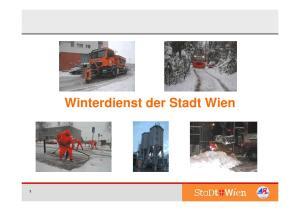 Winterdienst der Stadt Wien