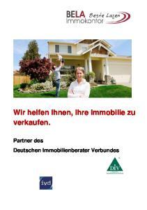 Wir helfen Ihnen, Ihre Immobilie zu verkaufen. Partner des Deutschen Immobilienberater Verbundes
