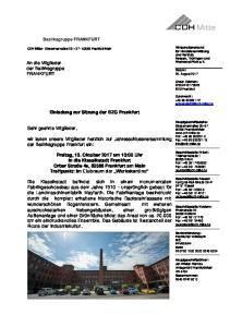 wir laden unsere Mitglieder herzlich zur Jahresschlussversammlung der Bezirksgruppe Frankfurt ein: